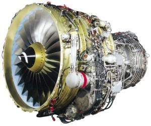 Exemplaire d'un moteur CFM 56, dont les disques de turbines sont actuellement fabriqués au Creusot.
