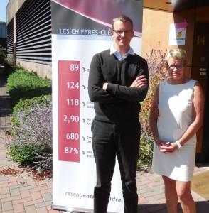 Nicole Martin-Spittler, chef d'entreprise et présidente de l'association régionale et Alexandre Michiels, chargé du développement.