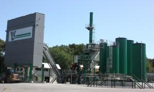 La nouvelle centrale recyclage d'anciens enrobés.
