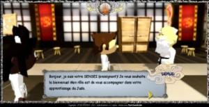 Un serious game conçu par la société de Haute-Saône FC3D sur l'apprentissage du judo.