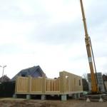Pendant la construction de la maison Europassive.