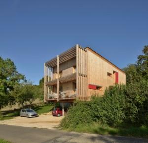 Maison individuelle à Mancey Maître d'oeuvre : SCPA Perche-Bougeault. Photo : Jérôme Beg.