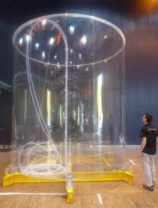 L'un des cylindres réalisés pour le CEA, pour lequel Novaplest a été primé au Modest 2009. (Photo Novaplest).