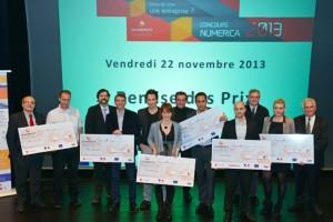 L'ensemble des lauréats des trophées Numerica (Photo : Samuel Carnovali / Numerica)