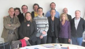 Le nouveau bureau du conseil de l'ordre régional des architectes de Bourgogne.
