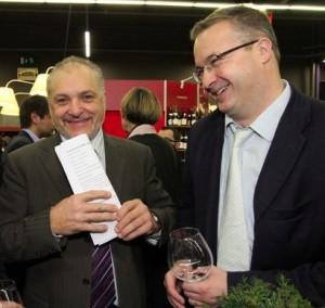 Claude Chevalier (à gauche) et Louis-Fabrice Latour.  Photo : Jean-Christophe Tardivon.