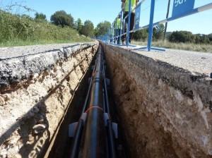 L'innovation porte sur la réutilisation des déchets de chantier pour les réseaux électriques enterrés.