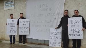 Les salariés de la fonderie Correia.