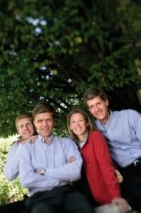 Les Drouhin. de gauche à droite : Laurent, Frédéric, Véronique et Philippe.