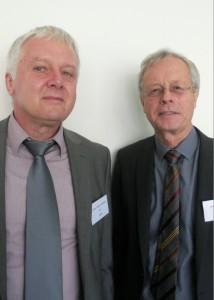 Les dirigeants d'Etag : Bernard Meyer le Français (à droite), l'allemand Hans-Jürgen Schmidt (à gauche).