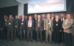 Tous les présidents des organisations patronales de Côte-d'Or invités par le Medef de Côe-d'Or, présidé par Pierre-Antoine Kern (2ème à droite).