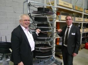Didier Meurou, à droite, et Björn Holmström, le fondateur d'Hydroscand.