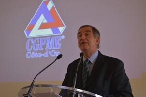 Patrice Tapie, président de la CGPME Côte-d'Or. (Crédit : Bruno Lédion)
