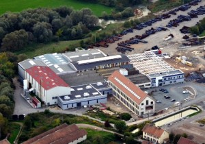 Vue aérienne de la tréfilerie de Grandvillars. (Crédit photo Lisi)