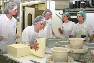 Dans le laboratoire de l'école nationale laitière de Poligny.