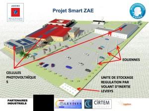 Le plan en 3D du site toulousain de production d'énergies renouvelables où seront testés les volants d'inertie.