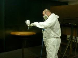 Opération de mise en peinture.