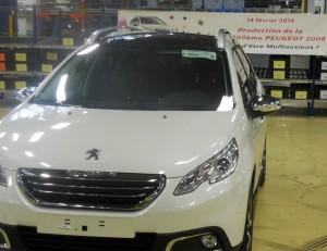 L'usine de Mulhouse a fêté la100 000ème Peugeot 2008, le 14 février 2014.