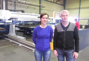 Audrey Heidinger en compagnie de Stéphane Schwartz, le nouveau responsable commercial de HEM Soultz.