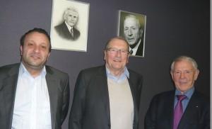 Vincent Martin, P-DG et son père Pierre avec Baptiste Carminati, fondateur d