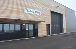 Le bâtiment de 1500 m2 construit sur Technoland II; l'extension du plus grand parc d'activités de l'agglomération de Montbéliard.