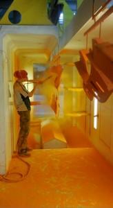 La cabine de peinture adaptée à de multiples matériaux.