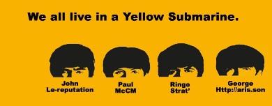 Une référence clin d'oeil à la chanson des Beatles car le logo de Blueboat est un sous-marin jaune.