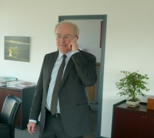 Jean-Pierre Deramecourt, président du directoire de la Caisse d'Epargne de Bourgogne, Franche-Comté.