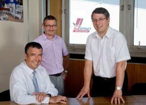 Un management collectif. De gauche à droite, Pascal Denis, Lionel Robelin et François Rossignol.