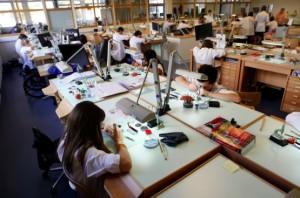L'école d'horlogerie suisse de Porrentruy, près de la frontière française.