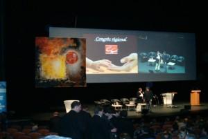 Toile de 4 m sur 4 réalisée par Pierre Lepreux pour le congrès des experts comptables de Bourgogne-Franche-Comté en 2008 à Dijon.