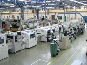 Une des lignes de production qu'utilisait Novatech Systems.