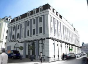 La Maison Engelmann, reconversion du rez-de-chaussée d'une demeure XIXème en galerie commerciale haut de gamme. Photo : Ville de Mulhouse.