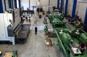 L'un des ateliers de production de machines spéciales de Pinette-PEI à Chalon-sur-Saône.
