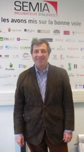 Gilles Grand, directeur de l'incubateur Semia Alsace.  Photo : C. Robischon.
