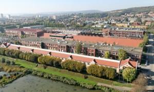Vue aérienne du site historique à Belfort.  photo : Sempat.