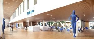 La future clinique de 30 000 m2 vue de l'intérieur. (Esquisse : AIA, architectes)