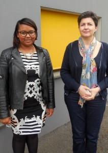Catherine Henninger, responsable de l'agence de Mulhouse (à droite) est secondée par Irène Andriamifidy, étudiante. © Christian Robischon.