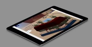 En architecture, le smartphone transforme un plan 2D en image 3D qui évolue en fonction du mouvement.