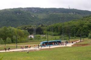 Le terminus à Chalezeule, côté est.