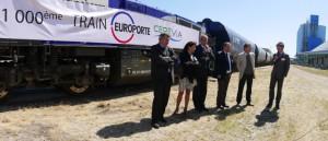 Le millième train à son arrivée au Port des Tellines.