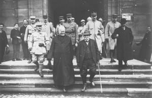 L'image qui fait la fierté de Masevaux : celle de l'athée Clémenceau sortant de l'église, avait fait la Une de la presse nationale en février 1918.