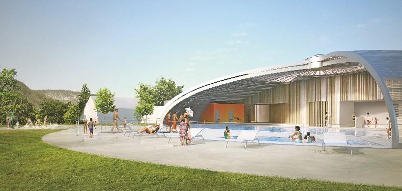 Bourgogne franche comt deux piscines r nov es selon la for Conception piscine publique