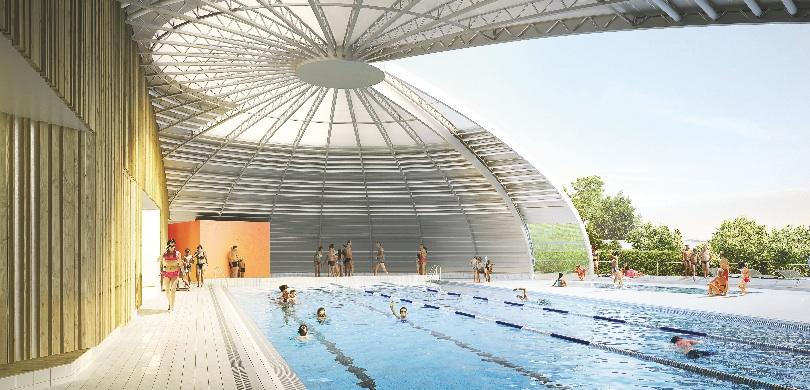 Bourgogne franche comt deux piscines r nov es selon la for Construction piscine yonne