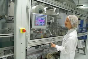 Machine de test pour l'industrialisation des futurs produits dans le centre de transposition industrielle de Dijon.