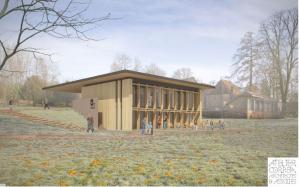 Le nouvel espace d'accueil de la maison du Parc du Morvan.