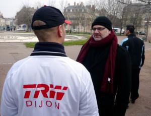 Christophe Depierre, qui a été durant tout le conflit social le porte-parole de l'intersyndicale CGT CFE-CGC FO de TRW Dijon.