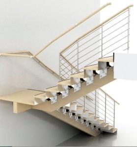 La main courante de cet escalier fait l'objet d'un brevet.