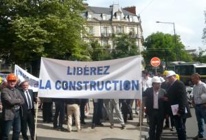 Le BTP n'avait pas manifesté à Dijon depuis 1983. ©Traces Ecrites.