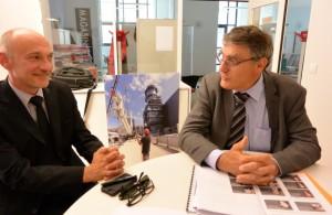 Yves Menat, président de la Sempat (à droite) et Pierre-Etienne Perol, directeur général. ©Pierre-Yves Ratti.